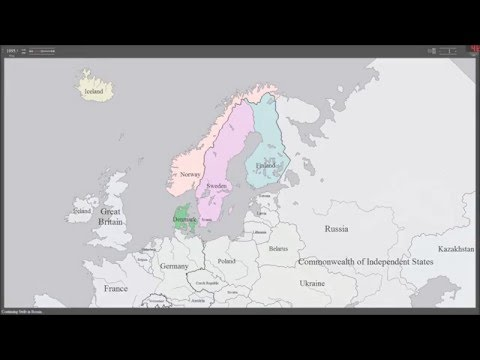 History Map of Scandinavian Country