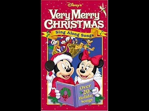 Disney Sing Along Songs Very Merry Christmas Songs 2002.Opening To Disney S Sing Along Songs Very Merry Christmas Songs 2002 Vhs Hq