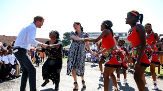 Meghan Markle and Prince Harry Show Off Their Dance Moves in Africa