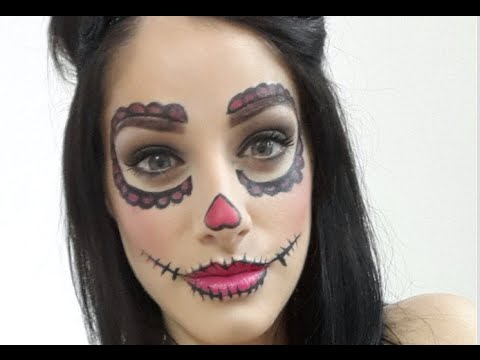 maquillage halloween d butante poup e mexicaine patricia youtube. Black Bedroom Furniture Sets. Home Design Ideas