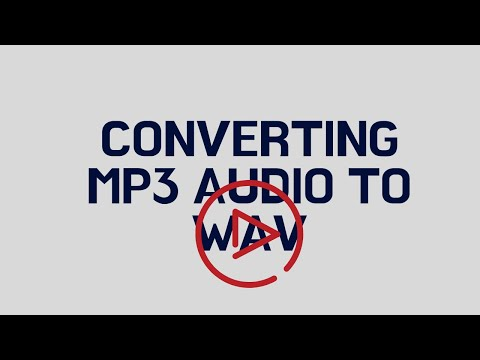 Converting Audio MP3 to iTunes WAV format, 16 bits, 44.1 khZ, 1411 Kbps
