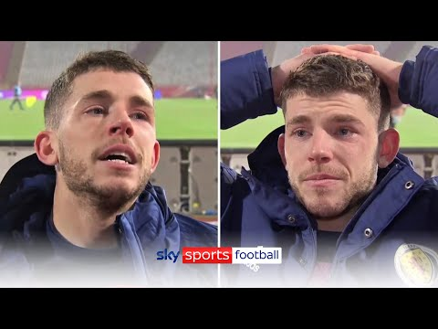 Emotional Ryan Christie in tears after Scotland reach their first major tournament since 1998 ❤️