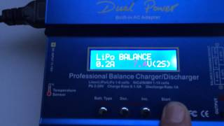 charging a 350mah 2s lipo with the imax b6ac charger