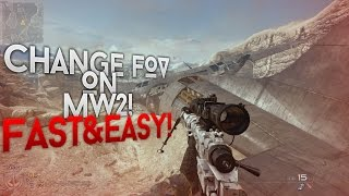 How to Change FOV on MW2! (FAST&EASY)