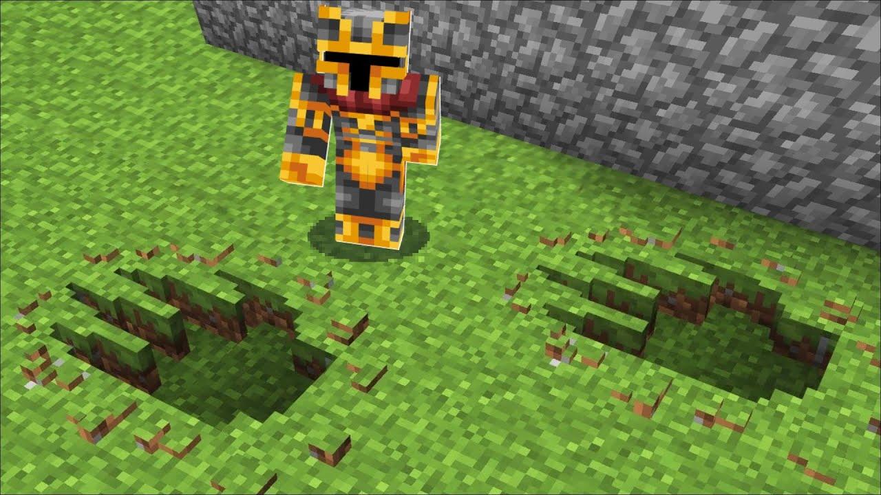 Download Minecraft DON'T FALL THROUGH THIS DINOSAUR FOOTSTEP CRACK TO UNDERGROUND HOUSE MOD !! Minecraft Mods