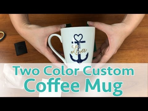 How to Make a Custom Two-Color Coffee Mug with Your Silhouette