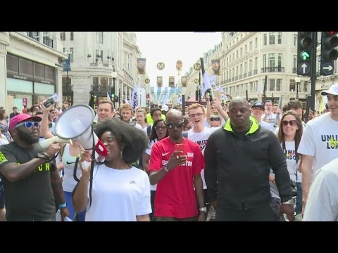 Rio 2016: Great Britain's athletic stars parade through London ahead of games
