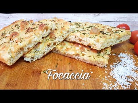Focaccia - Receta Fácil y sin Amasar - Pan de Pizza Italiano