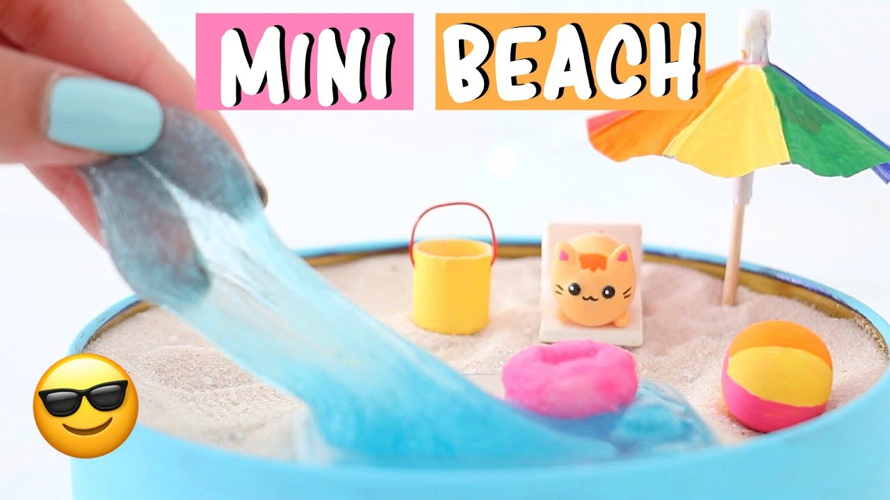 Making 7 Amazing Mini Beach Zen Garden Diy Water Slime Squishies Compilation