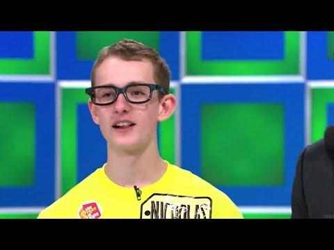 Skinny kid with glasses on The Price Is Right
