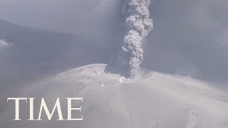 A Japanese Volcano Erupted For The First Time In Six Years | TIME
