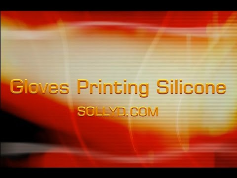 detailed process of printing silicone on gloves fabric