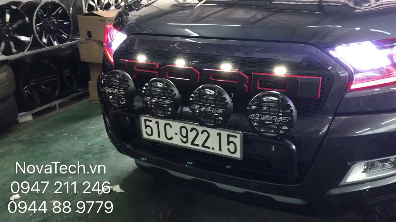 Ford Ranger Wildtrak With Mustang Headlight Youtube