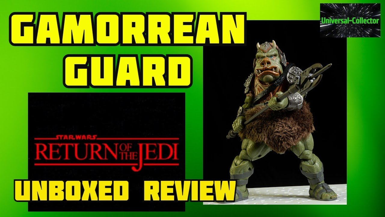 Download STAR WARS THE BLACK SERIES GAMORREAN GUARD 6 INCH DELUXE  ACTION FIGURE UNBOXED REVIEW ROTJ