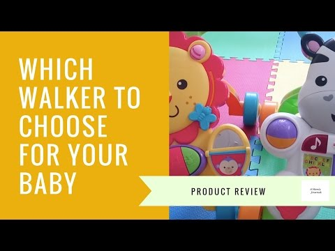 Which Walker to Choose for Your BABY -  Musical Lion Walker & Learn with Me Zebra Walker Comparison