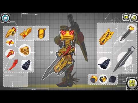 Мультик игра Собрать робота человека (Assembling Mech Warrior Man)