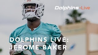 Dolphins Live: Jerome Baker meets with the media