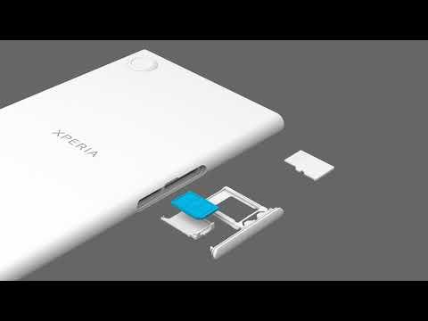 Insert a SIM card and a memory card – Xperia XZ1