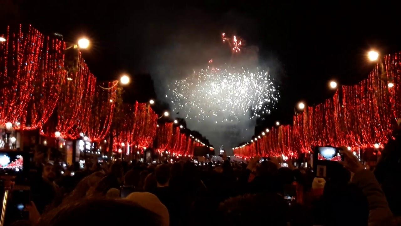 Paryż- powitanie roku 2019 na Champs Elysees- Paris 2019