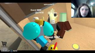 Scarlet attempts to play roblox #5 The normal Elevator