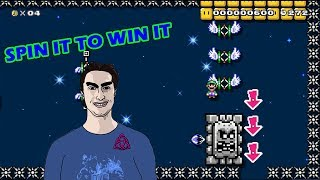 Beating Spin It to Win It by RubberNinja | Mario Maker Two