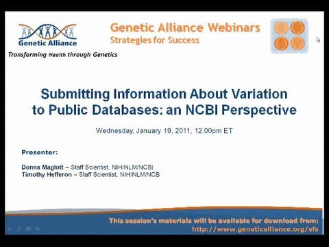 Submitting Information About Variation to Public Databases: an NCBI Perspective