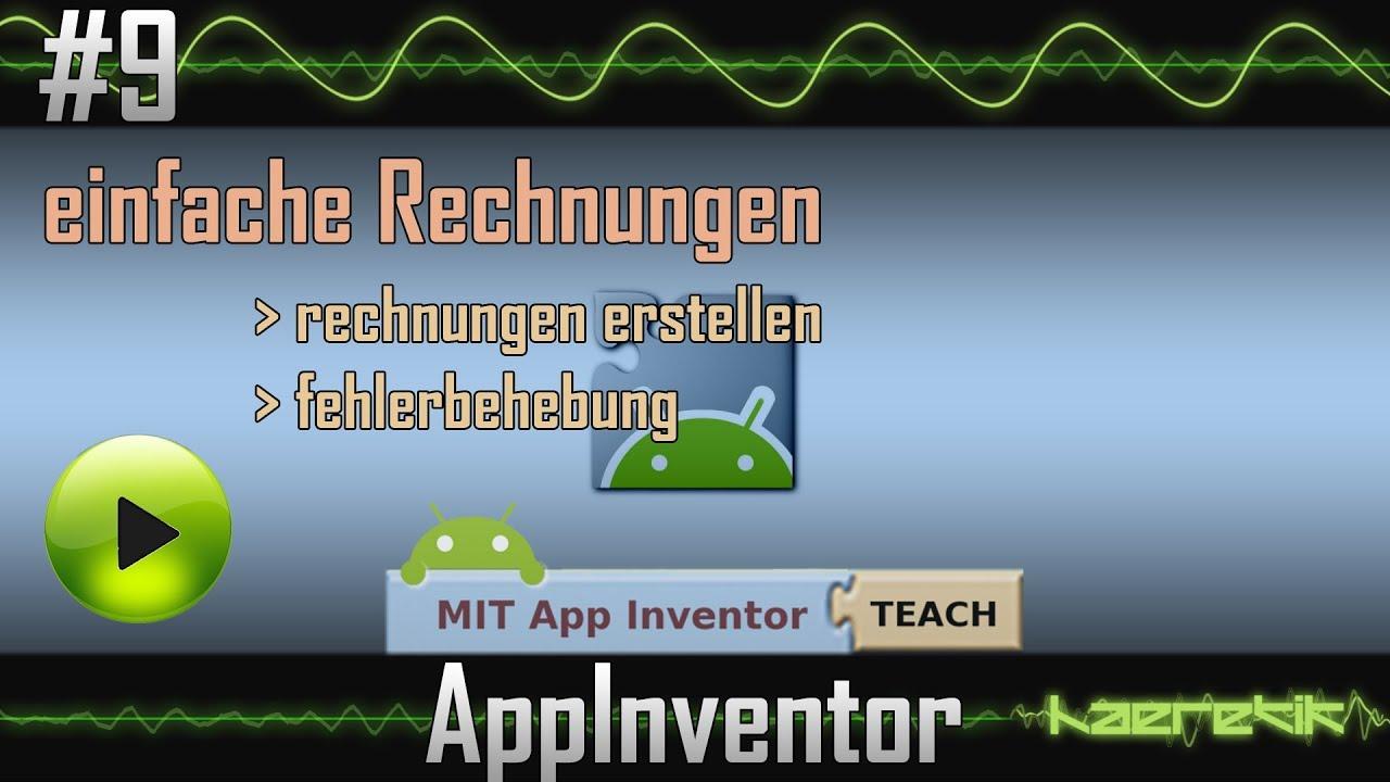 App Inventor Tutorial 9 Einfache Rechnungen Haeretikcom Youtube