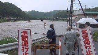 島根西部・広島北部で大雨 6万人に避難指示・勧告