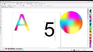 """Уроки для начинающих. Coreldraw X8. Оформляем буквы и цифры инструментом - """"Заливка сетки"""""""
