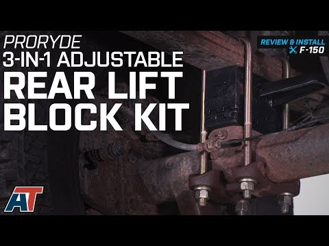 2004-2008 F150 ProRYDE 3-in-1 Adjustable Rear Lift Block Kit Review & Install