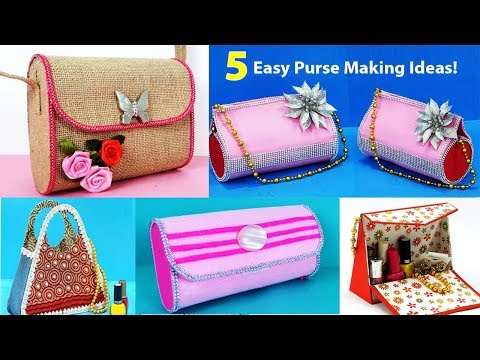 5 Easy Diy Purse Making Idea At Home Step By Step Diy Bag From Waste Youtube