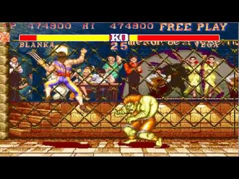 Street Fighter 2 Blanka Playthrough