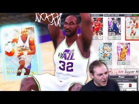 NBA 2K18 My Team DIAMOND KARL MALONE DUNKIN ON EM! IS SUPERMAX BETTER NOW?