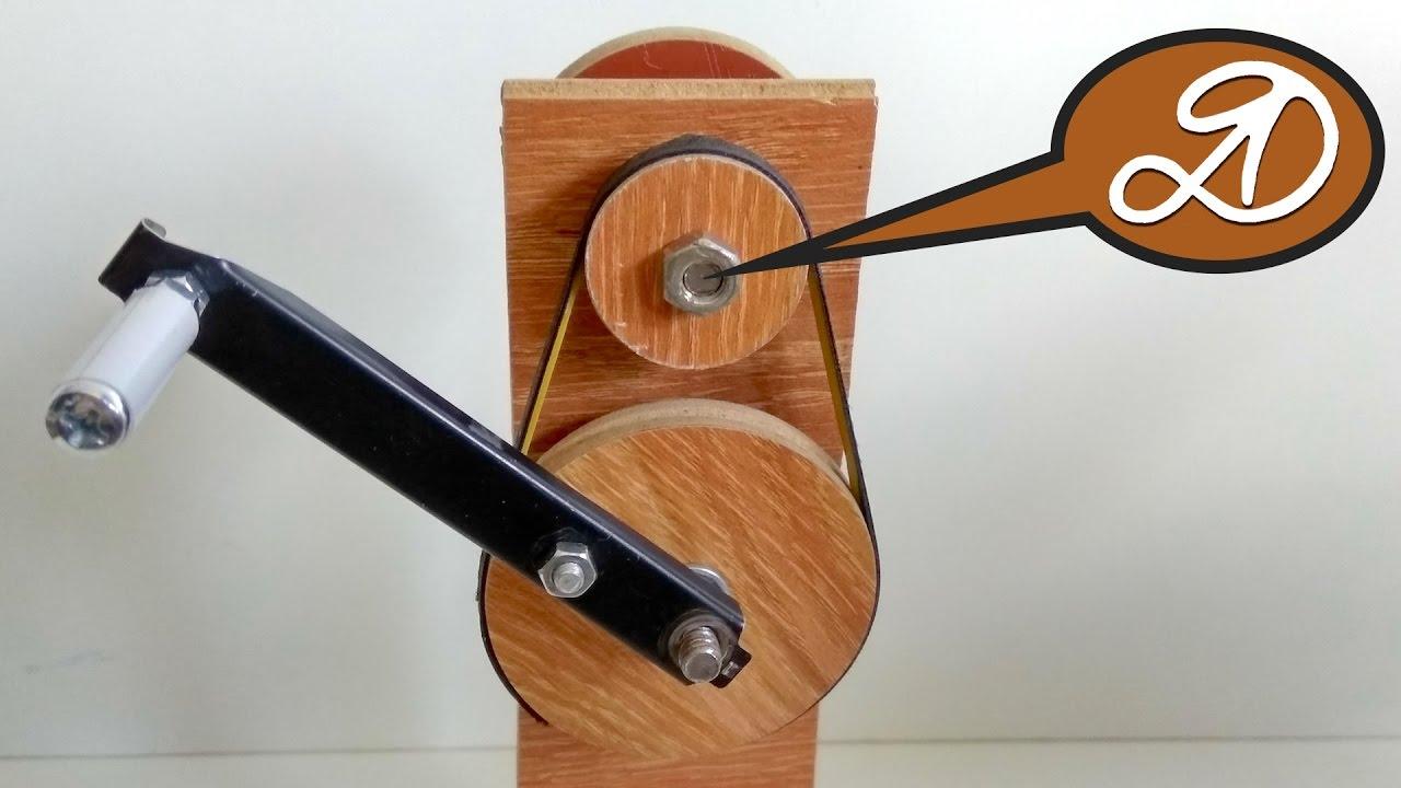Ручной привод для намотки шнура своими руками. Самодельный .