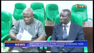 MDA's on Information, Youth and Sports presents 2019 budget performance