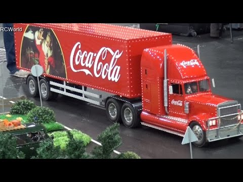 Rc Coca Cola Christmas Truck Lkw Euromodell Bremen 2015 Modellbaumesse Model Building Fair Germany