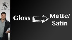 How to turn gloss paint matte or satin