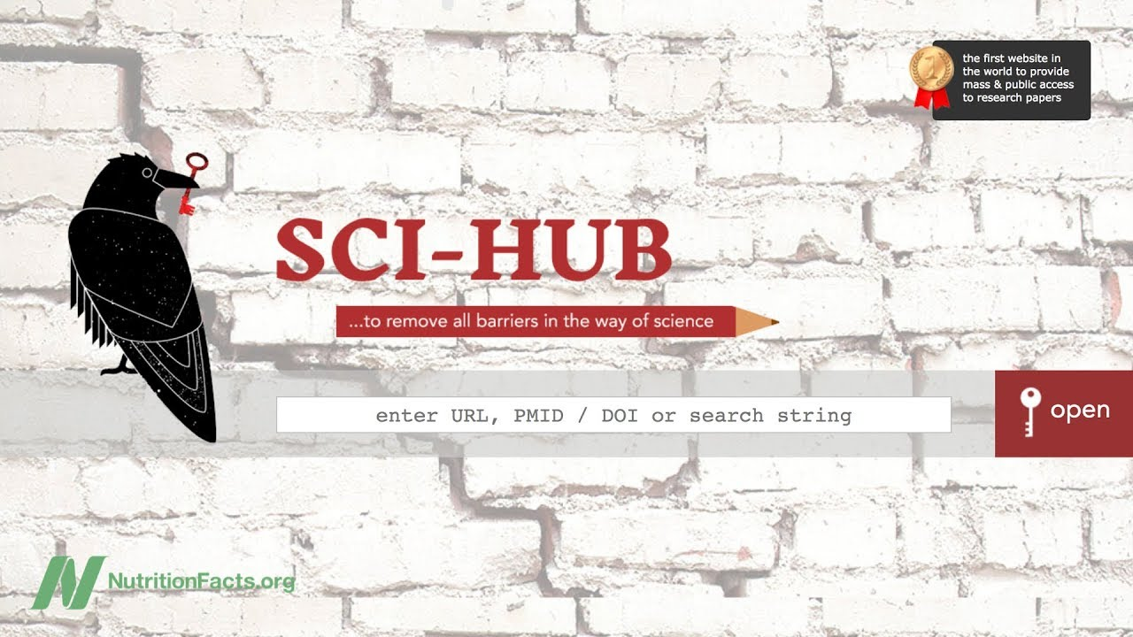 Sci-Hub Opens Up a World of Knowledge | NutritionFacts org