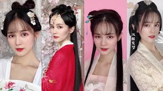 Beautiful Chinese old traditional hairstyles tutorial[古装发型]