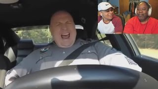 Dad Reacts to 10 Incredible Moments Caught On Police Car Dashcams!