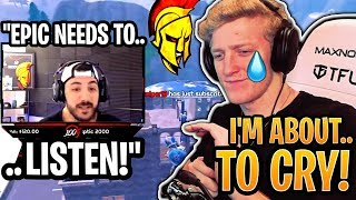 Tfue EMOTIONAL After NickMercs DEFENDS Him Against Epic Games!  - Fortnite Best and Funny Moments