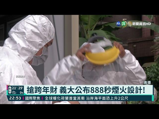 搶跨年財 義大公布888秒煙火設計!|華視新聞 20211027