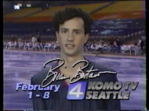 Brian Boitano  - Figure Skating Championships Commercial  - Tacoma Dome Seattle (1987)
