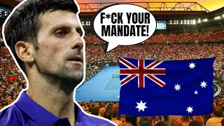 Novak Djokovic STANDS UP To Vaccine Mandate, Says He Won't Play In The Australian Open!