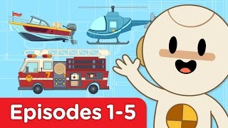 finley s factory   car bus helicopter firetruck motorboat   full episodes 1 5