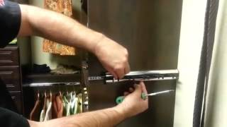 The Closet Doctor - How to Adjust Sliding Belt and Tie Racks Thumbnail