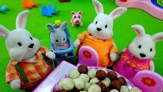 Развивающие мультики: Зайчата! Весёлый завтрак! Игрушки для детей.