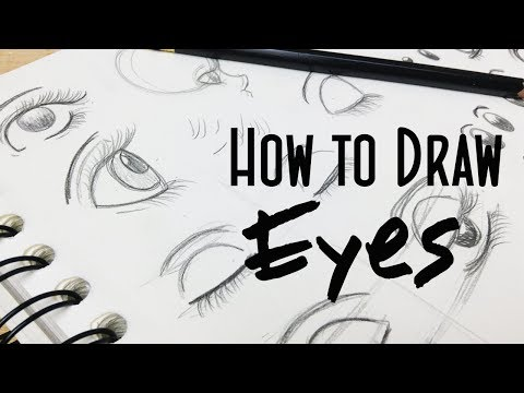 How to Draw Stylized Cartoon Girl Eyes: Real Time Drawing Tutorial
