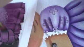 Como usar o carimbo no tecido por BM ARTESANATOS