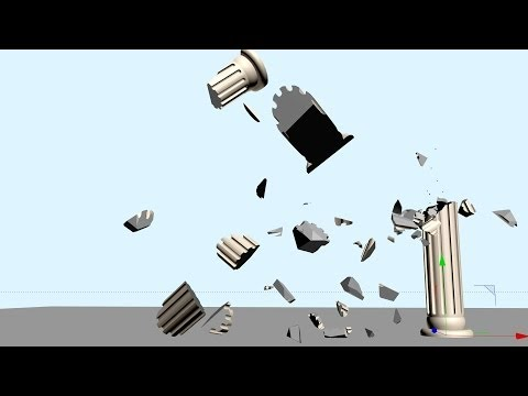 Cinema 4D | Destroying a Column Model With the Thrausi